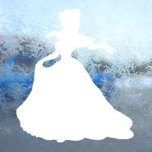 Disney White Decal Cinderella Car Window Laptop White