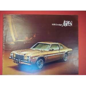1978 Dodge Aspen, original sales brochure: chrysler motors: Books