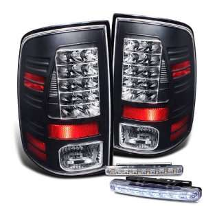 Eautolight 2009 2010 Dodge Ram 1500 Black LED Tail Lights Lamps Brand