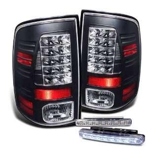 Eautolight 2009 2010 Dodge Ram 1500 Black LED Tail Lights Lamps Brand