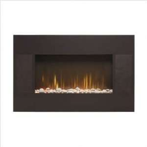 Witham Brown Wall Mounted Electric Fireplace
