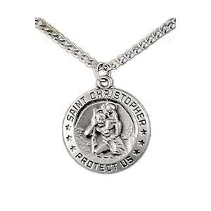Round Saint Christopher Necklace: Faith Jewelry Collection: Jewelry