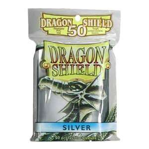 Dragon Shield Standard Deck Sleeves Silver 50 Count Toys