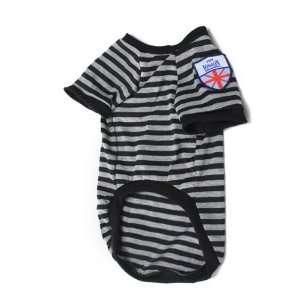 Pet Dog Striped T Shirt Coat Jacket Clothes Apparel XL#