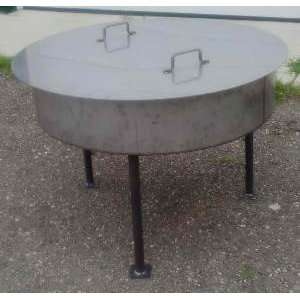 36 Stainless Steel Fire Pit Cover Patio, Lawn & Garden