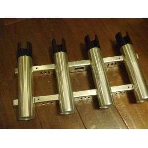 A1688q Polished Aluminum Quad 4 Fishing Rod Holders