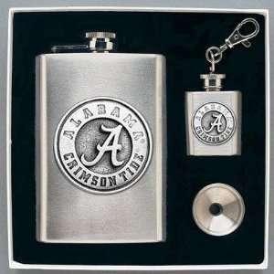 Alabama Crimson Tide Flask & Funnel Set (in Gift Box