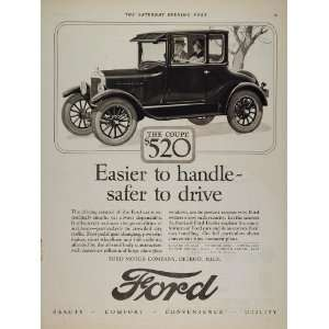 1926 Ad Ford Model T Coupe Vintage Car Automobile   Original Print Ad