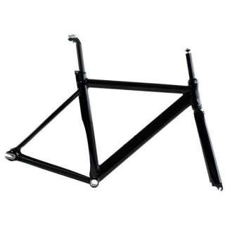 Track Fixie Road Bike Frame with Fork Black 53cm  Sports