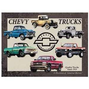 Chevrolet Chevy Pickup Trucks Tribute Retro Vintage Tin