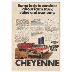 1975 Chevy Cheyenne Farm Pickup Truck Print Ad (16719)