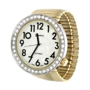 Geneva Platinum Womens Round Face Stretch Watch Geneva Platinum