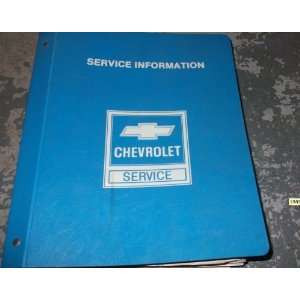 : 1985 Chevrolet Chevy Corvette Service Repair Manual OEM: gm: Books