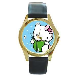 hello kitty v7 Gold Metal Watch