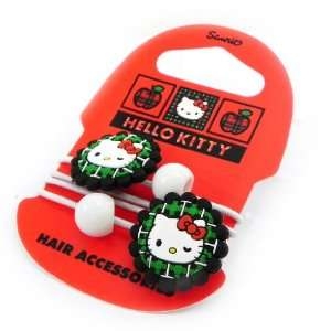 Pair of elastic Hello Kitty white green. Jewelry