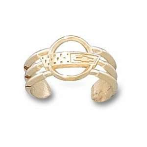 Chevy Corvette C4 Logo Toe Ring   10KT Gold Jewelry: Sports & Outdoors