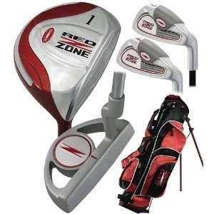 Merchants of Golf Red Zone 5 piece Junior Stand Bag Set Complete Set