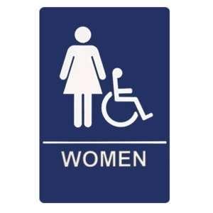 Restroom Sign   Women Handicap Accessible