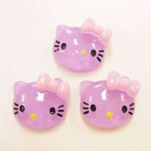 20pc Lavender Kitty Cat Flat Back Resins Cabochons fa72