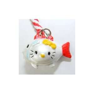 Hello Kitty Fish Bell Straps, Charms or Keychains, a Set