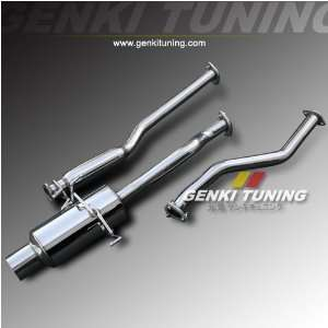Exhaust Muffler System 01 05 Honda Civic 2Dr / 4Dr 4 Tip Automotive