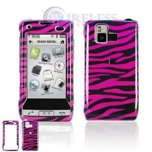LG VX9700 Cell Phone Hot Pink/Black Zebra Design