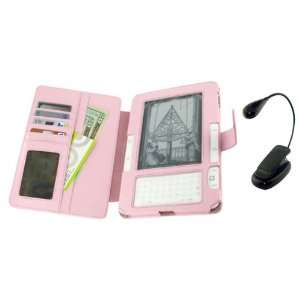 Pink Full Genuine Leather Case with Book Light for
