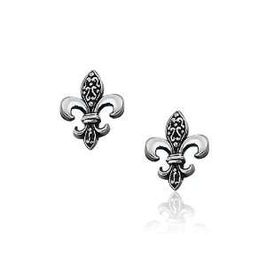 Bling Jewelry Antique Style Sterling Silver Fleur De Lis