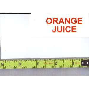 JUICE Soda Vending Machine Flavor Strip, Label Card, Not a Sticker