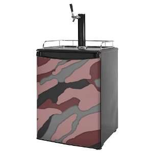 Kegerator Skin   Camouflage Pink (fits medium sized dorm