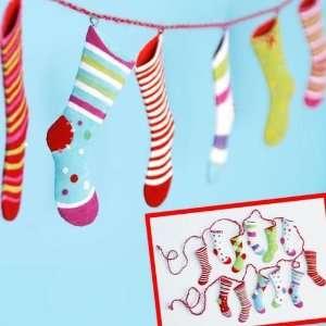 Glitterville Christmas, Polka Dot Socks STOCKING GARLAND SMALL ( Item