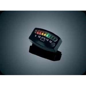 Kuryakyn 4218 Black LED Battery Gauge for Harley Davidson