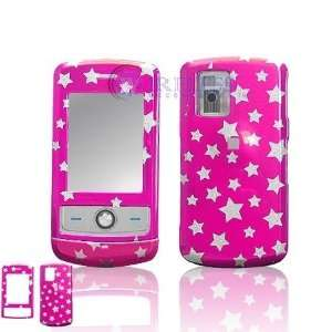 LG CU720 Shine Cell Phone Hot Pink/Silver Stars Design