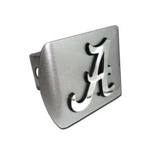 Brushed Silver with Chrome Crimson Tide A Logo NCAA College