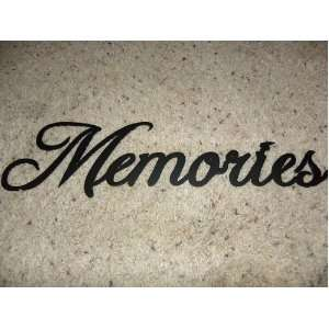 Home Decorating on Memories Word Home Decor Metal Wall Art  Home   Kitchen