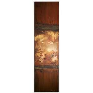 Wall Art + 8 inchx30 inch + Metal + Decorative Accessory, Browns/Red