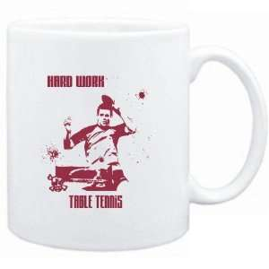 Mug White  HARD WORK Table Tennis  Sports Sports