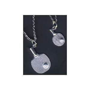 Table Tennis Silver Necklace