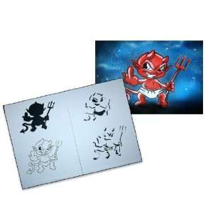 Step by Step Airbrush Stencil Template AS 048 L ca. 9,05