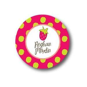 Polka Dot Pear Design   Round Stickers (372r) Office