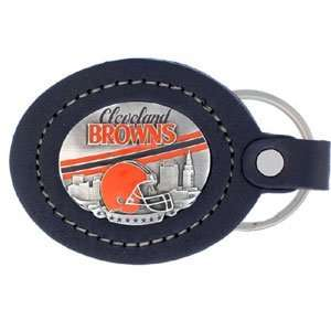 Cleveland Browns NFL Large Leather Key Ring