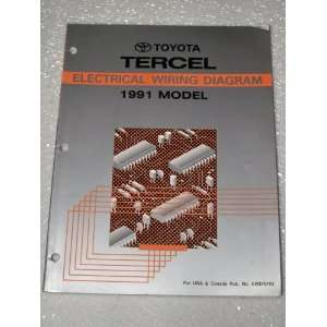 Tercel Electrical Wiring Diagram Toyota Motor Corporation Books