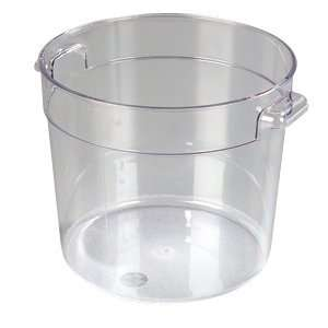 Clear Plastic   Round Food Storage Containers   Six (6) Quart
