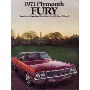 1973 PLYMOUTH FURY Sales Brochure Literature Book