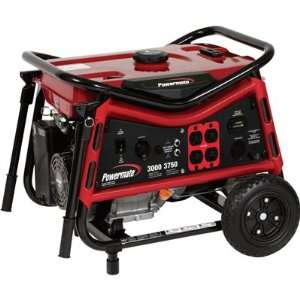 Powermate Portable Generator  3750 Surge Watts, 3000 Rated Watts, CARB