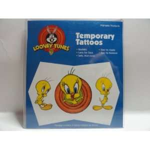 Body Prints Looney Tunes Temporary Tattoos   Tweety Bird