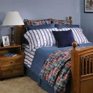 RALPH LAUREN Blue UNIVERSITY AARON Shields XL TWIN SHEET