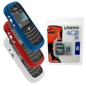 Blue, White, Red Skin Cover Case and Kingston 4GB