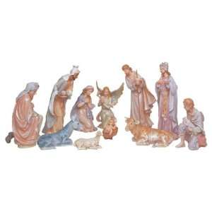 11 Piece Nativity Set Holy Religious Figurines With Manger