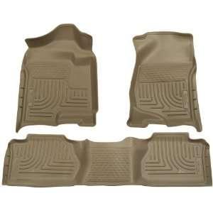 Seat Floor Liner Set for Chevrolet Silverado 3500 (Tan) Automotive